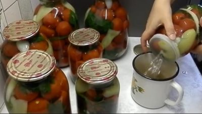 маринованные помидоры на зиму сладкие на 1 литр с лимонной кислотой