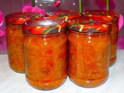 заправка для макарон на зиму из помидор и перца и лука