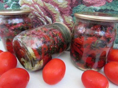 вяленые помидоры как хранить