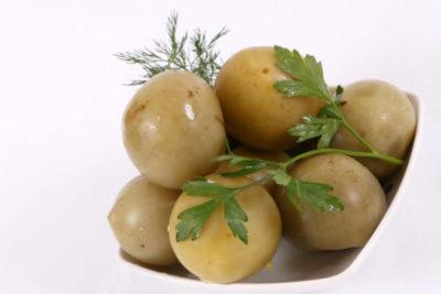 зеленые моченые помидоры