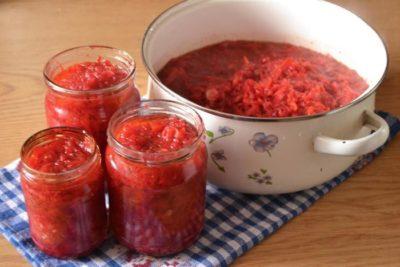 Заправка из перца и помидор на зиму - 6 соток
