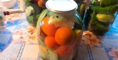огород заготовка на зиму огурцы помидоры капуста перец морковь