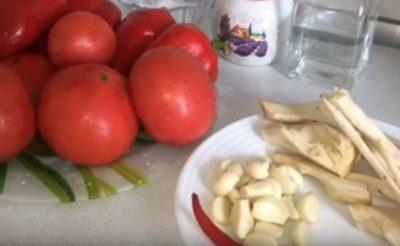 аджика из помидор и чеснока на зиму без варки