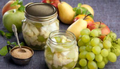 заготовки из груш и яблок