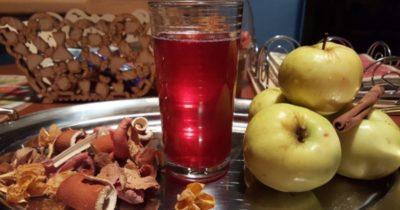 компот из клюквы и яблок на зиму