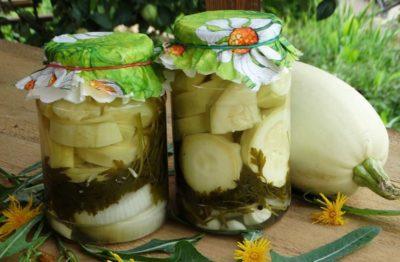 кабачки на зиму с укропом и чесноком