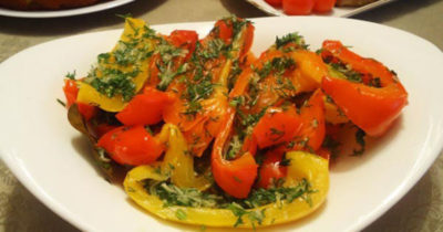 болгарский перец маринованный с чесноком