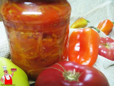 лечо с баклажанами помидорами и перцем