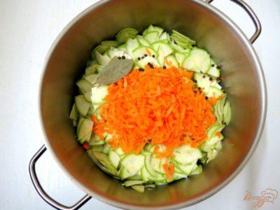 кабачки на зиму с морковкой