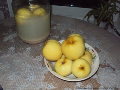 как солить яблоки