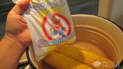 замороженная кукуруза в початках на зиму