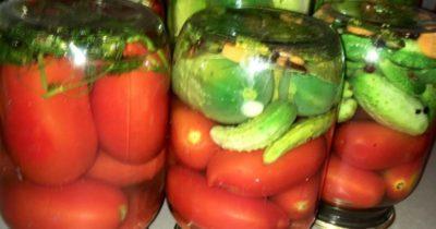 ассорти на зиму из огурцов и помидоров и кабачков на зиму