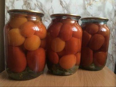 сколько рассола в трехлитровой банке с помидорами