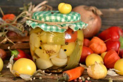 ассорти из овощей на зиму без стерилизации