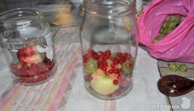 компот из вишни и смородины на зиму