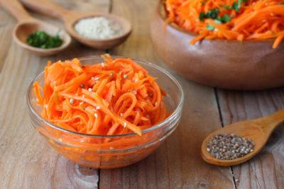 корейская морковь на зиму без стерилизации