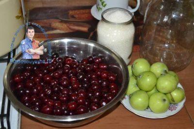 компот из вишни и черешни на зиму