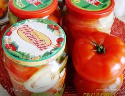 помидоры резанные на зиму с луком