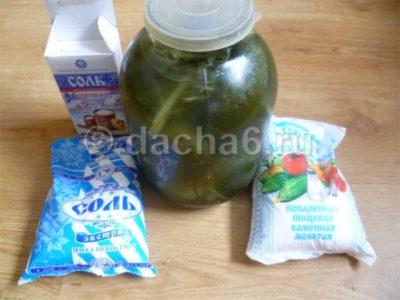 сколько соли и сахара на литр воды для засолки огурцов на зиму