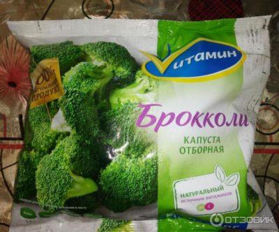 заморозка капусты брокколи