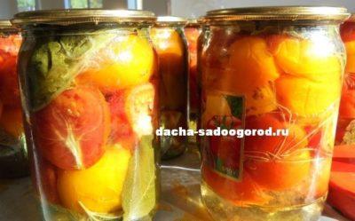 как посолить помидоры половинками